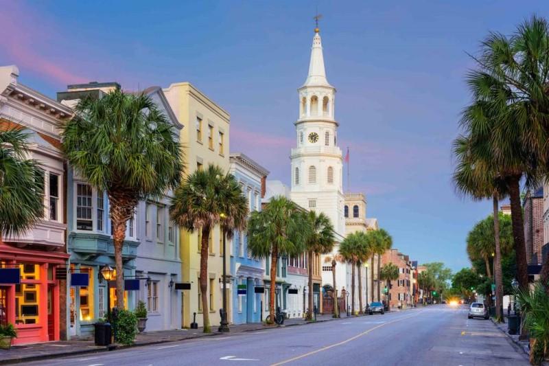 Những dãy nhà tại thành phố cảng Charleston