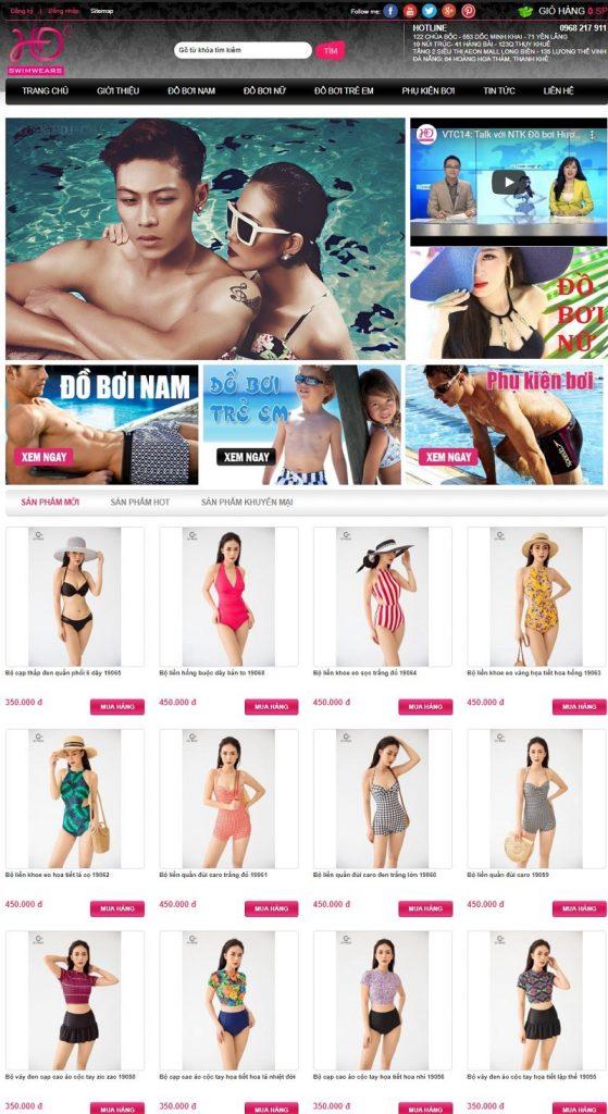 Trang web đồ bơi Hương Điệp