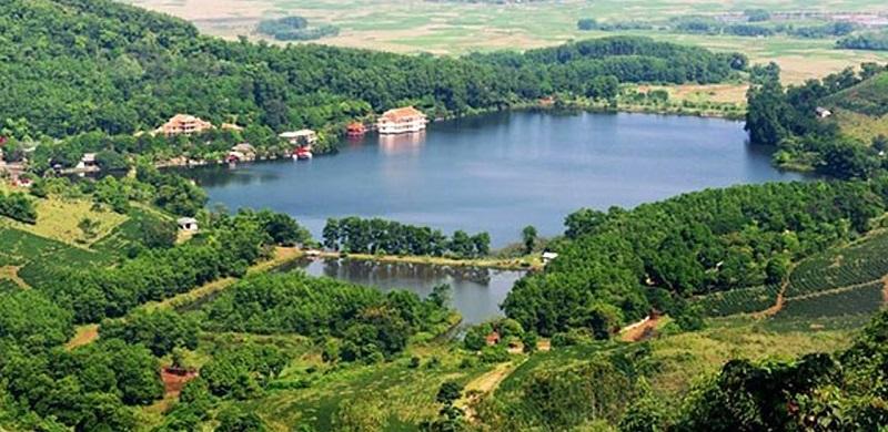 Toàn cảnh khu du lịch Hồ Tiên Sa nhìn từ trên cao