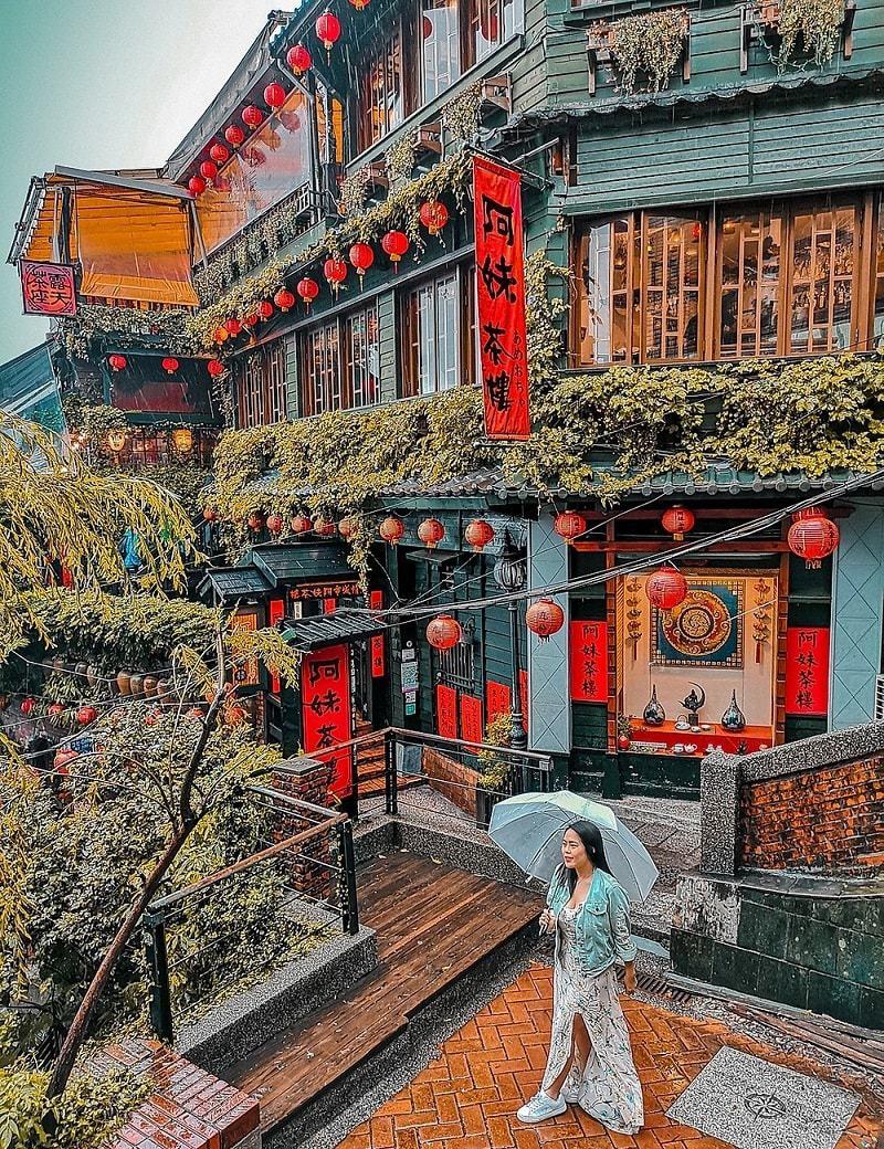 Khung cảnh đậm chất Trung Hoa ở làng cổ Cửu Phần