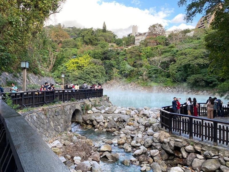 Suối nước nóng Xinbeitou là một địa điểm thu hút du khách ghé tới