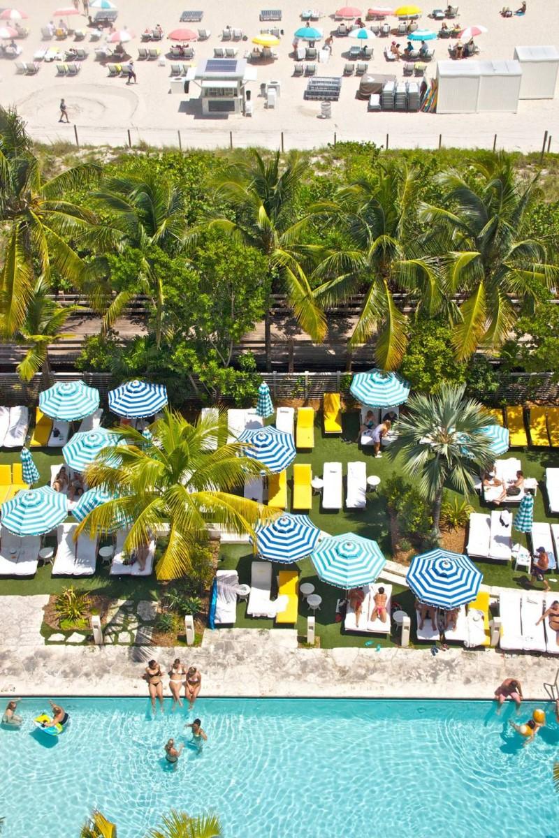Bãi biển đông người tại thành phố Florida Mỹ