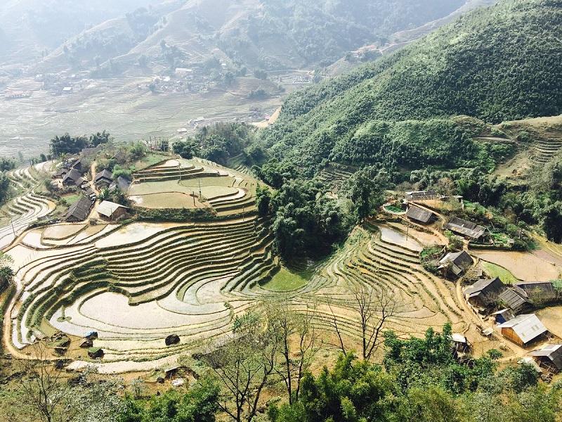 Ruộng bậc thang Hà Giang mùa nước đổ