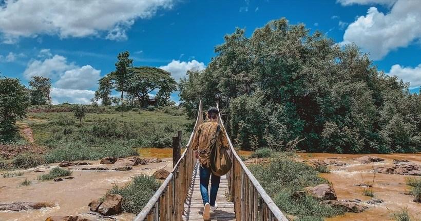 Cây cầu bắc ngang suối tại Buôn Mê Thuột