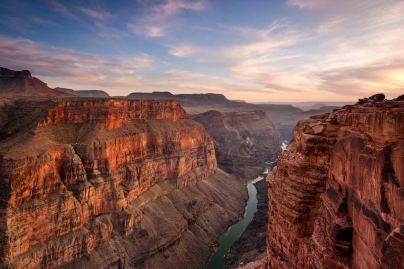 Sự hùng vĩ của những dãy núi đá hùng vĩ tại The Grand Canyon Mỹ