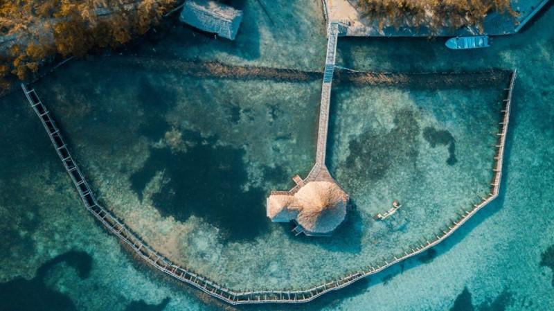 Toàn cảnh biển Belize với nhiều hòn đảo