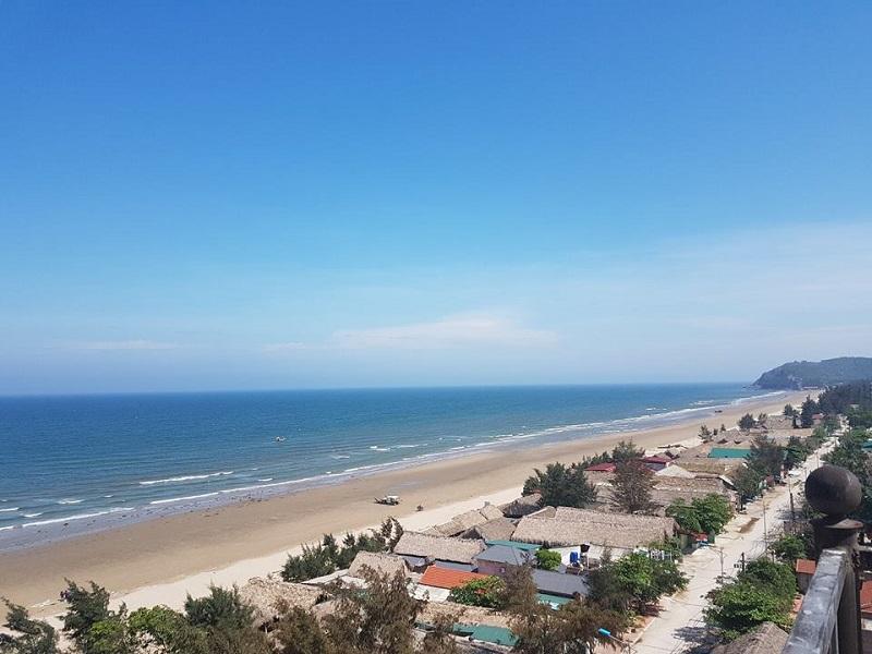Bờ biển Hải Hòa Thanh Hóa nhìn từ trên cao