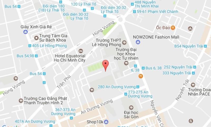 Vị trí của hồ bơi Lam Sơn trên bản đồ google map