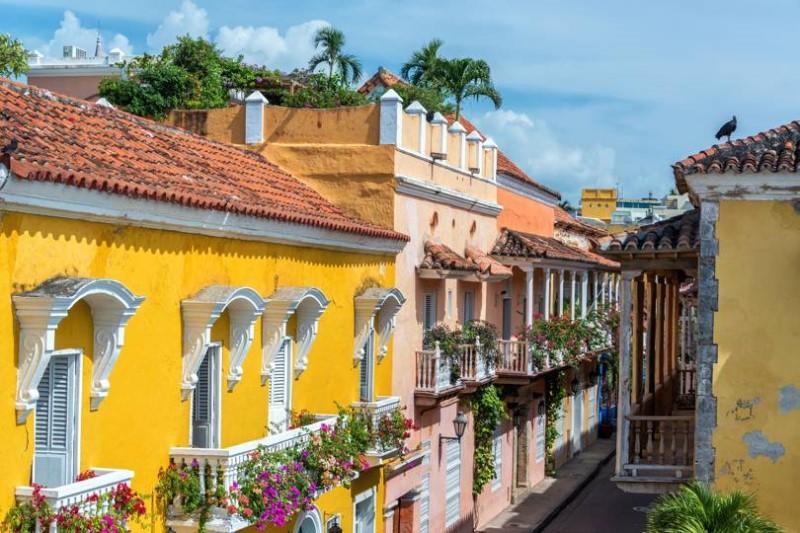 Những tòa nhà thuộc địa đầy màu sắc tại Cartagena