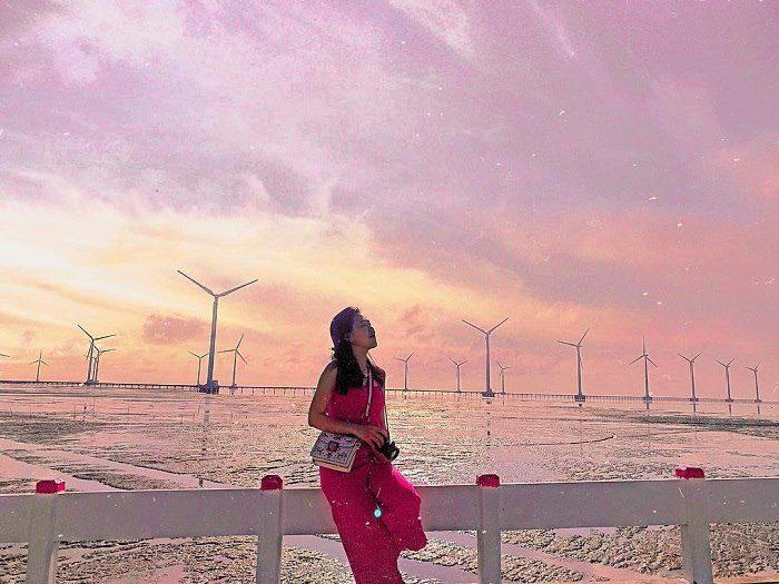 Cánh đồng điện gió tại Bạc Liêu