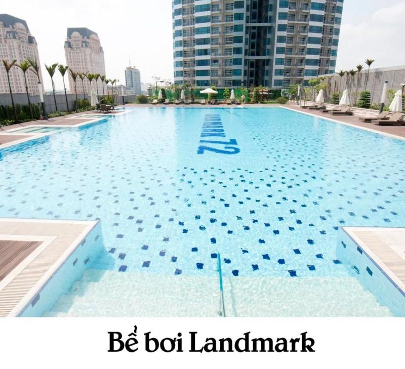 Hồ bơi rộng rãi ở Landmark Tôn Đức Thắng