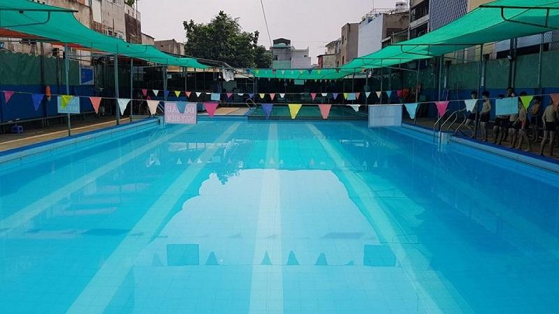 Không gian hồ bơi Lý Thánh Tông quận Tân Phú