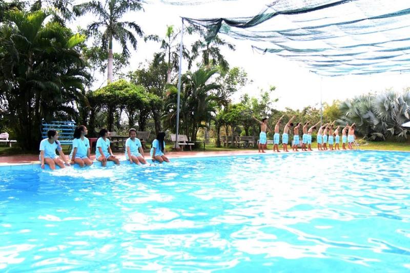 Không gian hồ bơi Thiên Nga quận 2