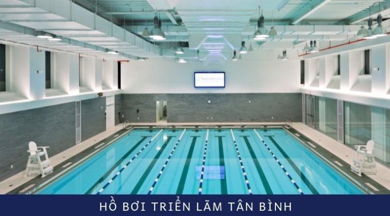 Không gian hồ bơi Triển Lãm Tân Bình