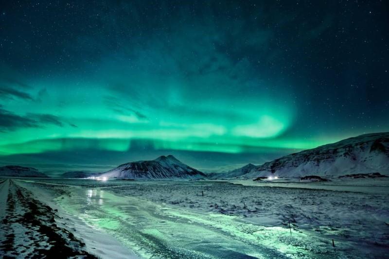 Vẻ ddepj mì ảo của cực quang tại Iceland