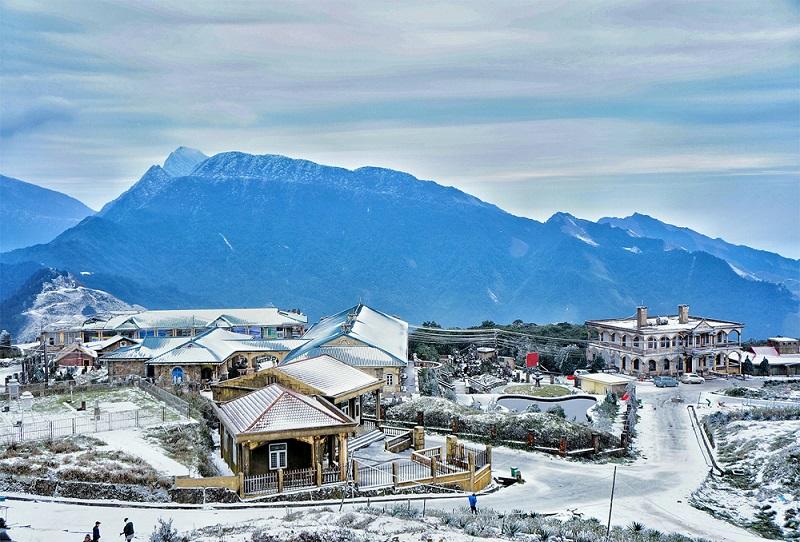 Những cung đường phủ tuyết tại Mẫu Sơn Lạng Sơn