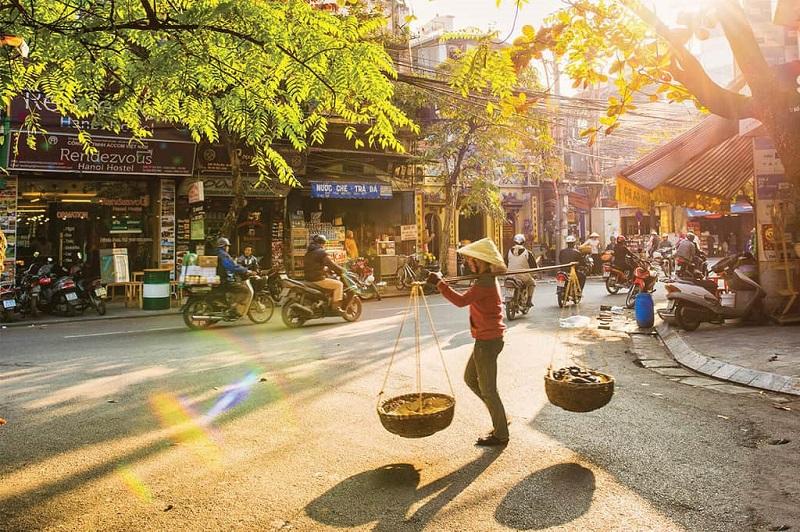 Mùa thu vàng trên phố Hà Nội