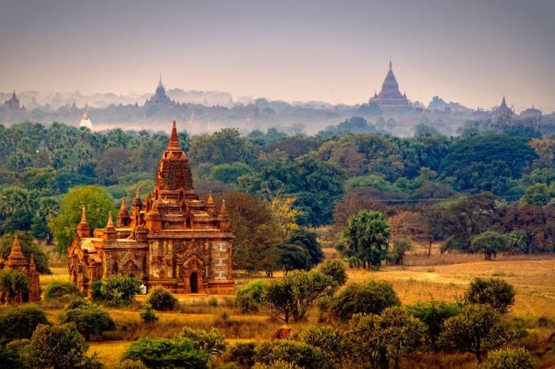 Một ngôi chùa tại Myanmar