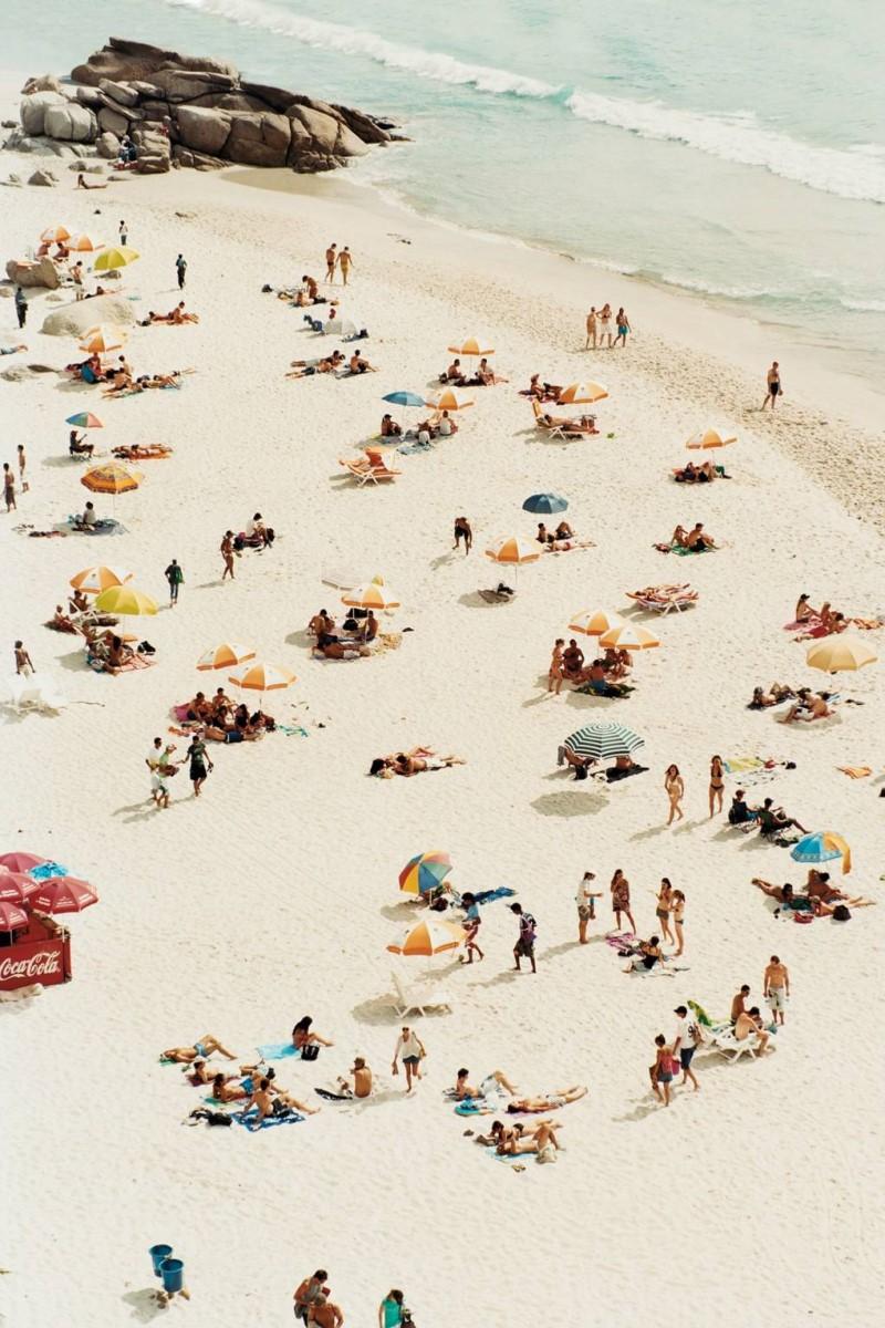 Bãi biển đông người nghỉ mát tại Nam Phi