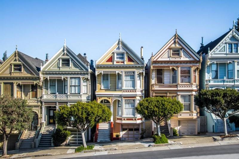Những ngôi nhà xinh đẹp tại Thành phố San Francisco-bang California, Mỹ