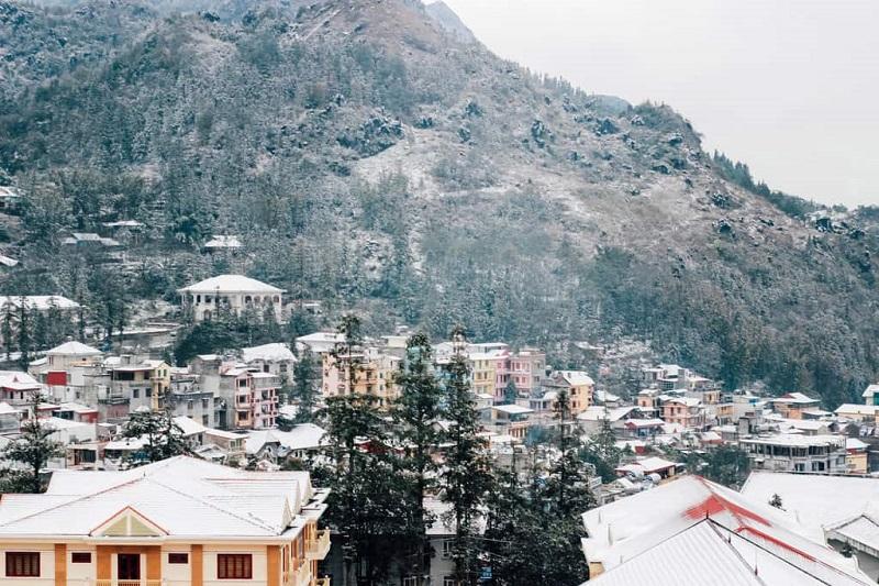 Sapa phủ tuyết vào tháng 12