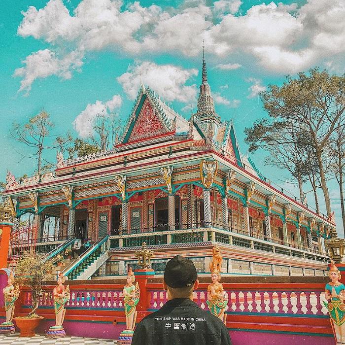 Một ngôi chùa mang đậm kiến trúc Nam Bộ ở Sóc Trăng