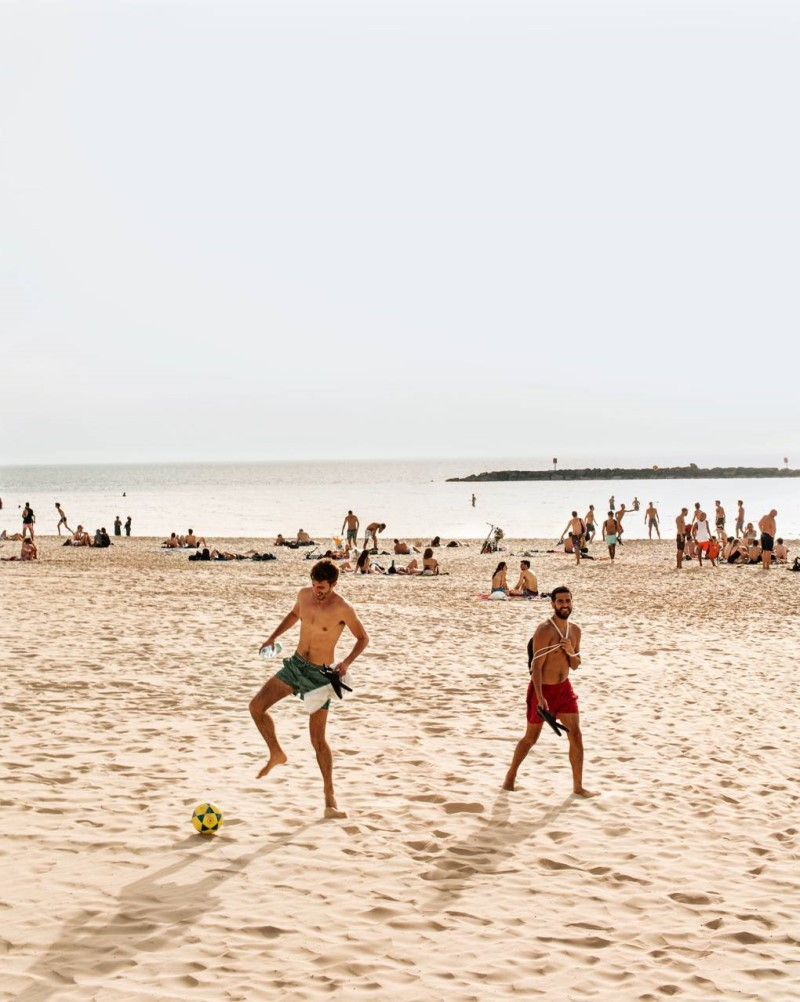 Bãi biển tại thành phố Tel Aviv