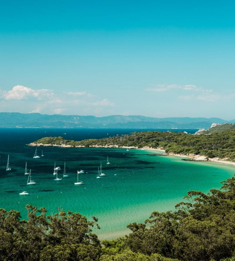 Khung cảnh đại dương tại French Riviera