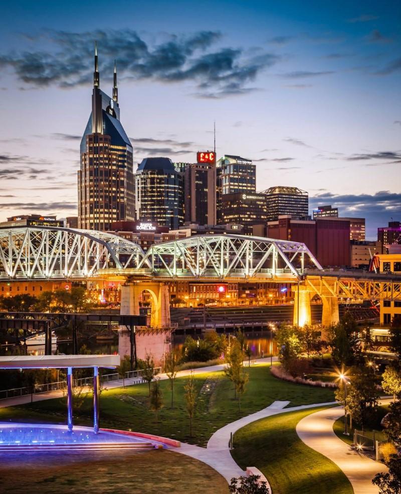 Thành phố Nashville hoa lệ tại bang Tennessee