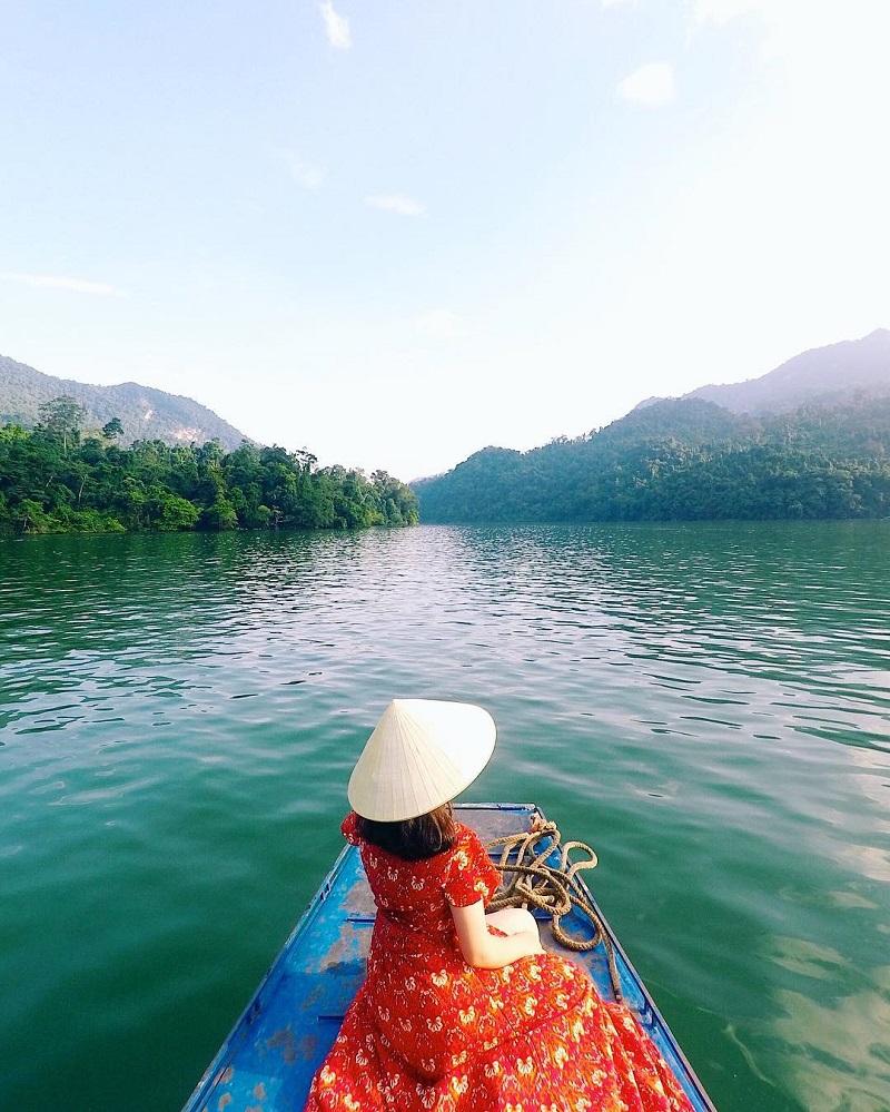 Khung cảnh trong xanh tại Bắc Kan vào mùa thu