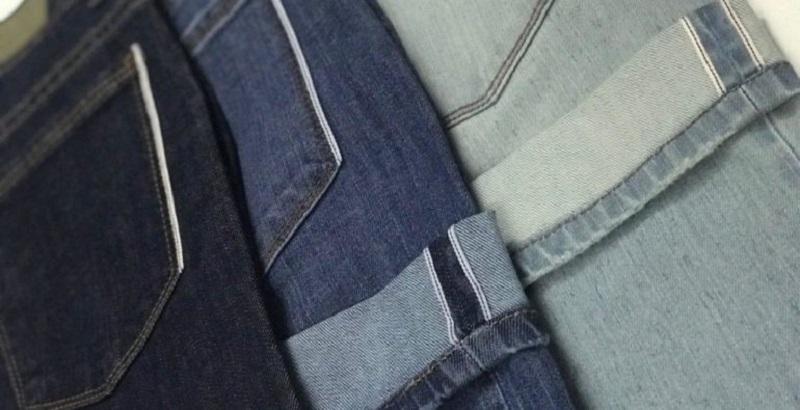 Mặt sau quần chất liệu vải denim