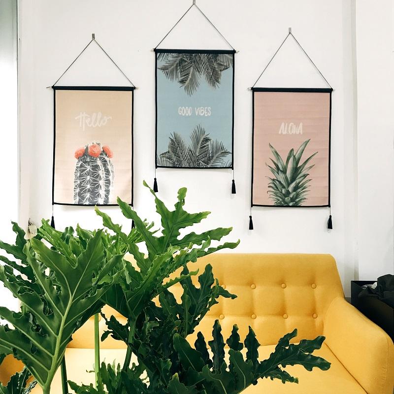 Chất liệu vải canvas làm tranh treo tường trang trí