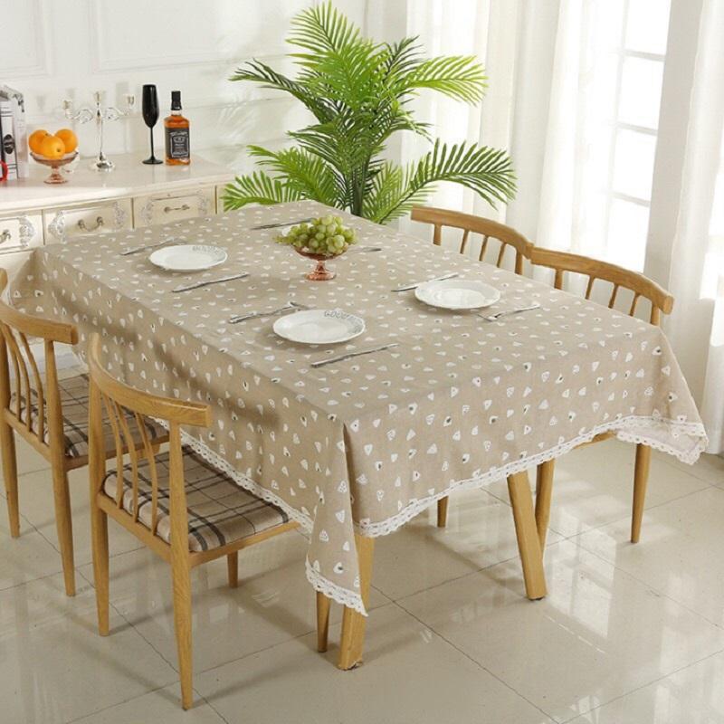 Khăn trải bàn ăn chất liệu vải Canvas