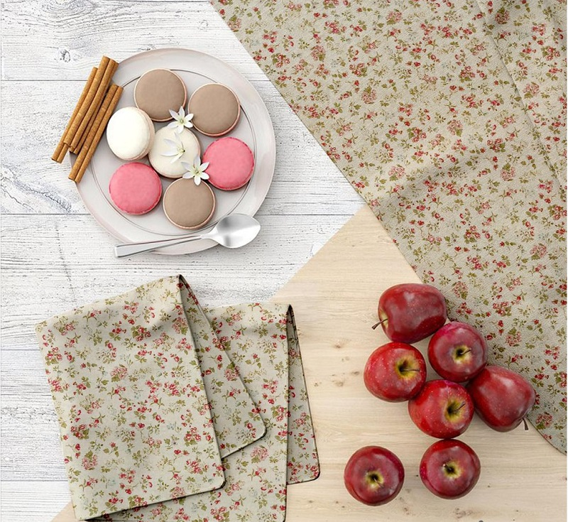 Vải Canvas làm khăn trải bàn