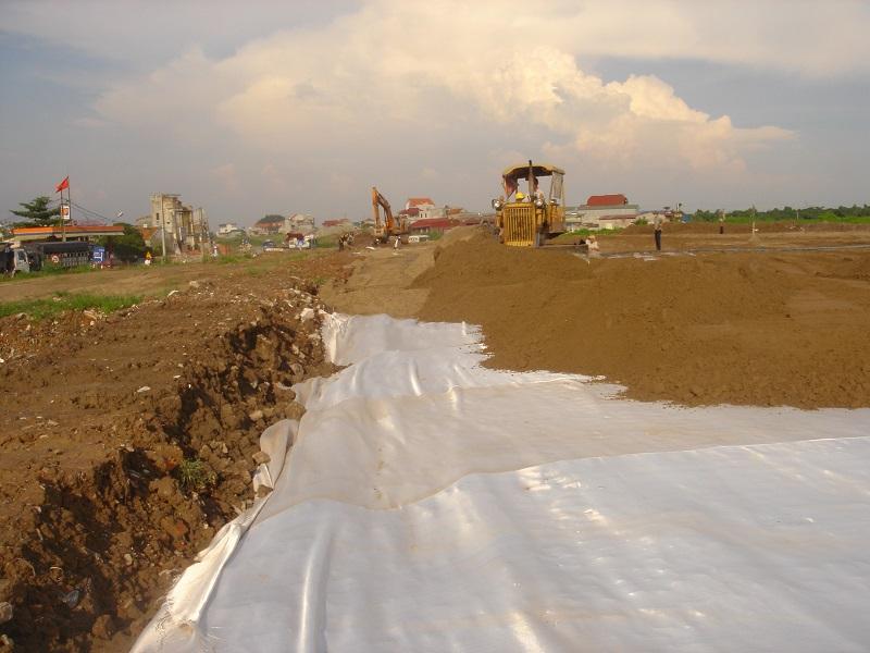 Vải địa kỹ thuật tăng cường lực cho đất