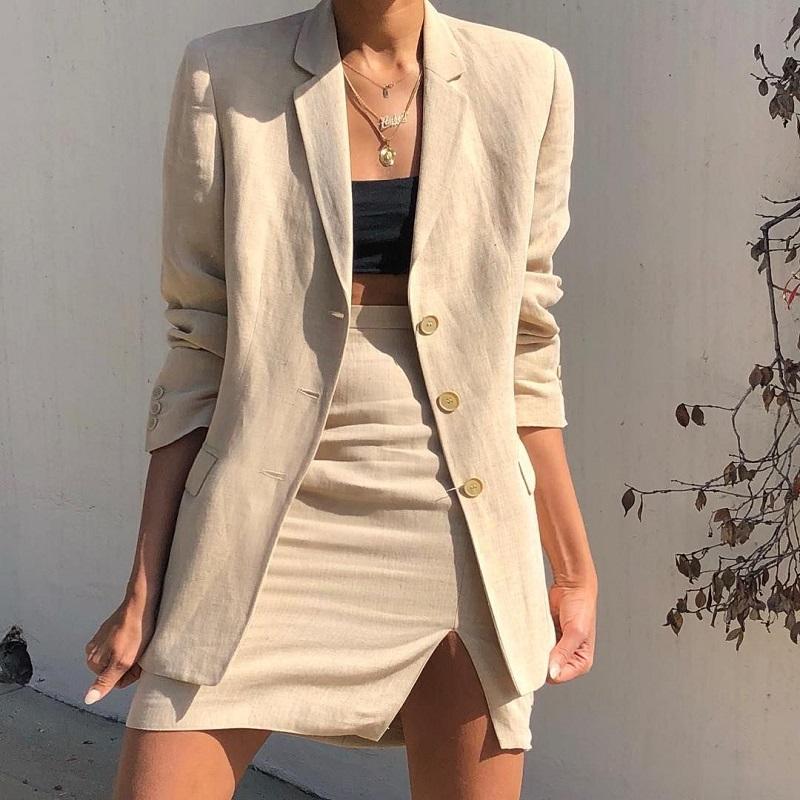 Vải linen ứng dụng trong thời trang