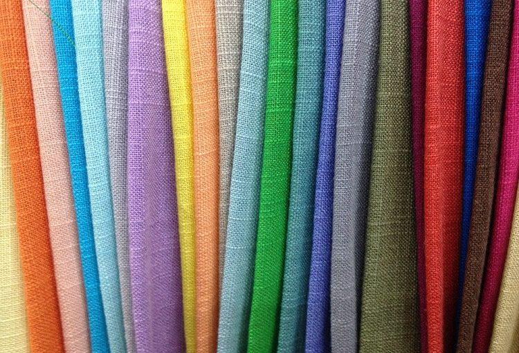 Vải linen nhiều màu sắc