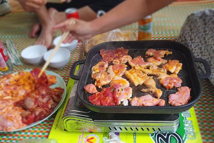 Loại bếp ga mini được cho thuê tại khu du lịch