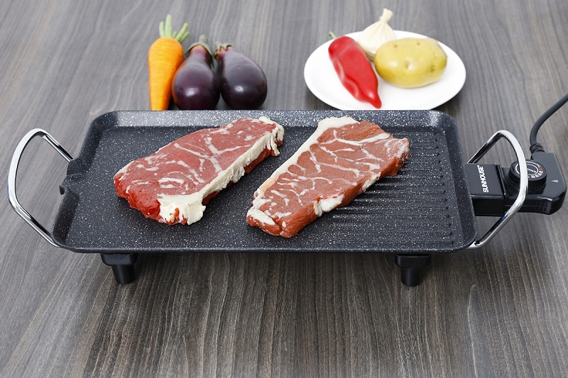 Bếp nướng cắm điện thích hợp sử dụng chế biến đồ nướng tại nhà