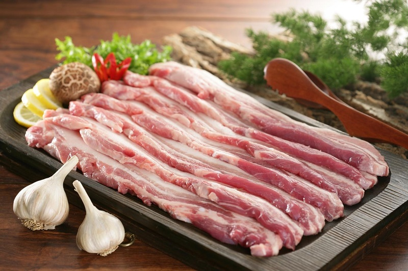 Các nguyên liệu để làm thịt ba chỉ nướng