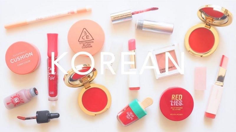 Các loại mỹ phẩm make up Hàn Quốc
