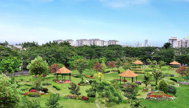 Toàn cảnh công viên khu đô thị Phú Mỹ Hưng