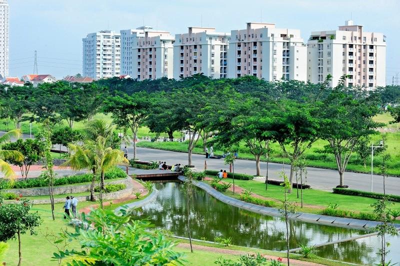 Công viên khu đô thị Phú Mỹ Hưng được ví như lá phổi xanh của thành phố