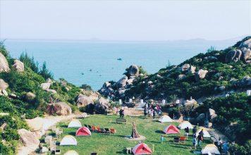 Quang cảnh khu cắm trại Trung Lương yên bình và thơ mộng