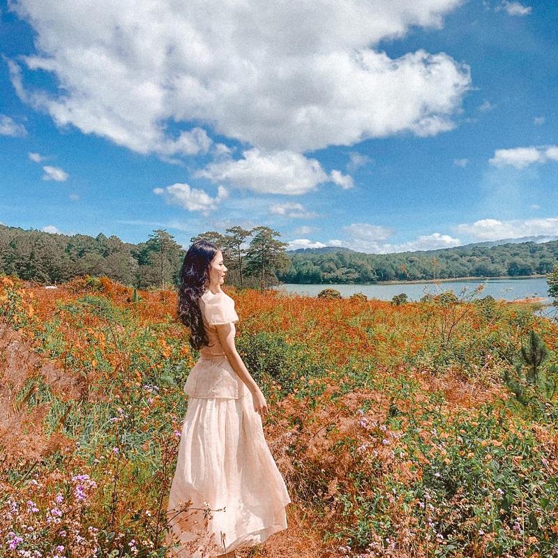 Chụp hình ở vườn hoa Đà Lạt