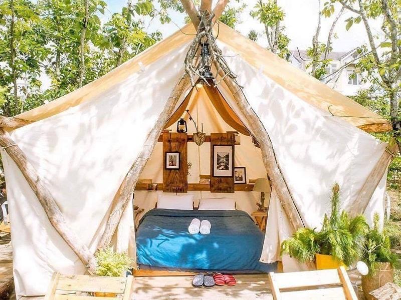 Các căn phòng ở Shelter Homestay được thiết kế giống như chiếc lều trại
