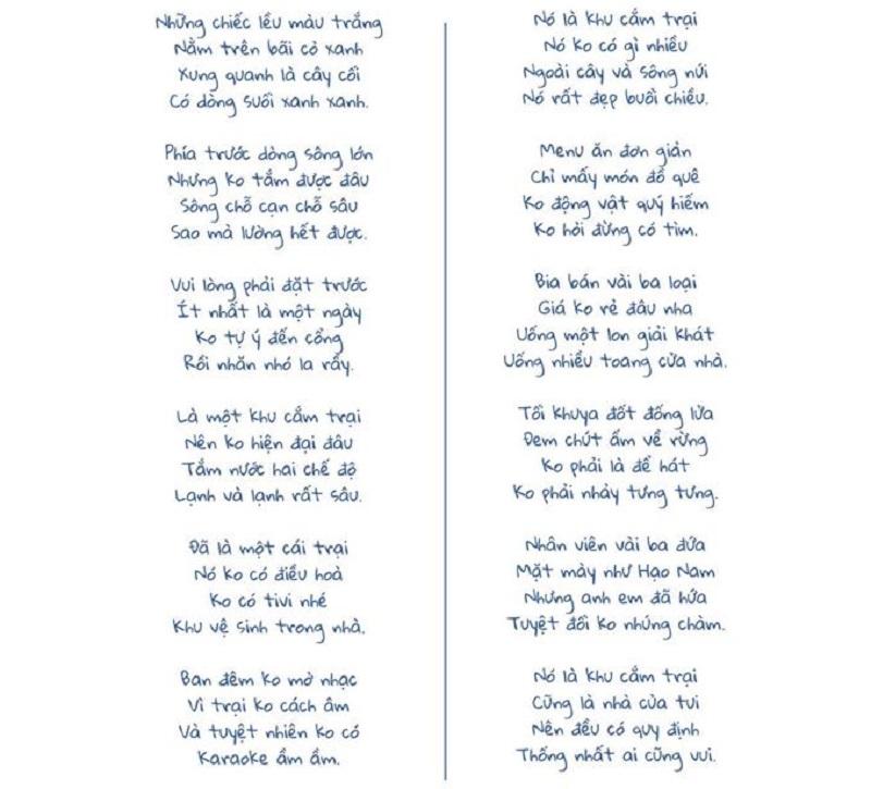 Bài thơ về yên retreat