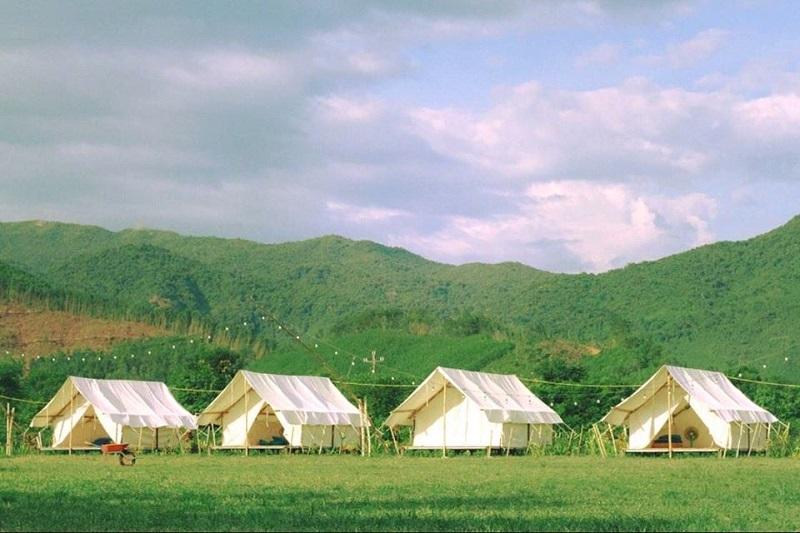 Các căn lều trại ở yên retreat