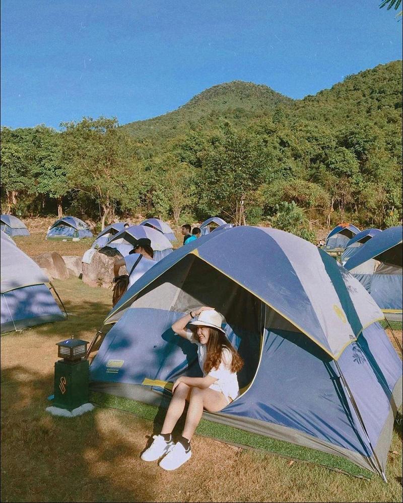 Khu cắm trại rộng rãi tại rừng Bạch Mã