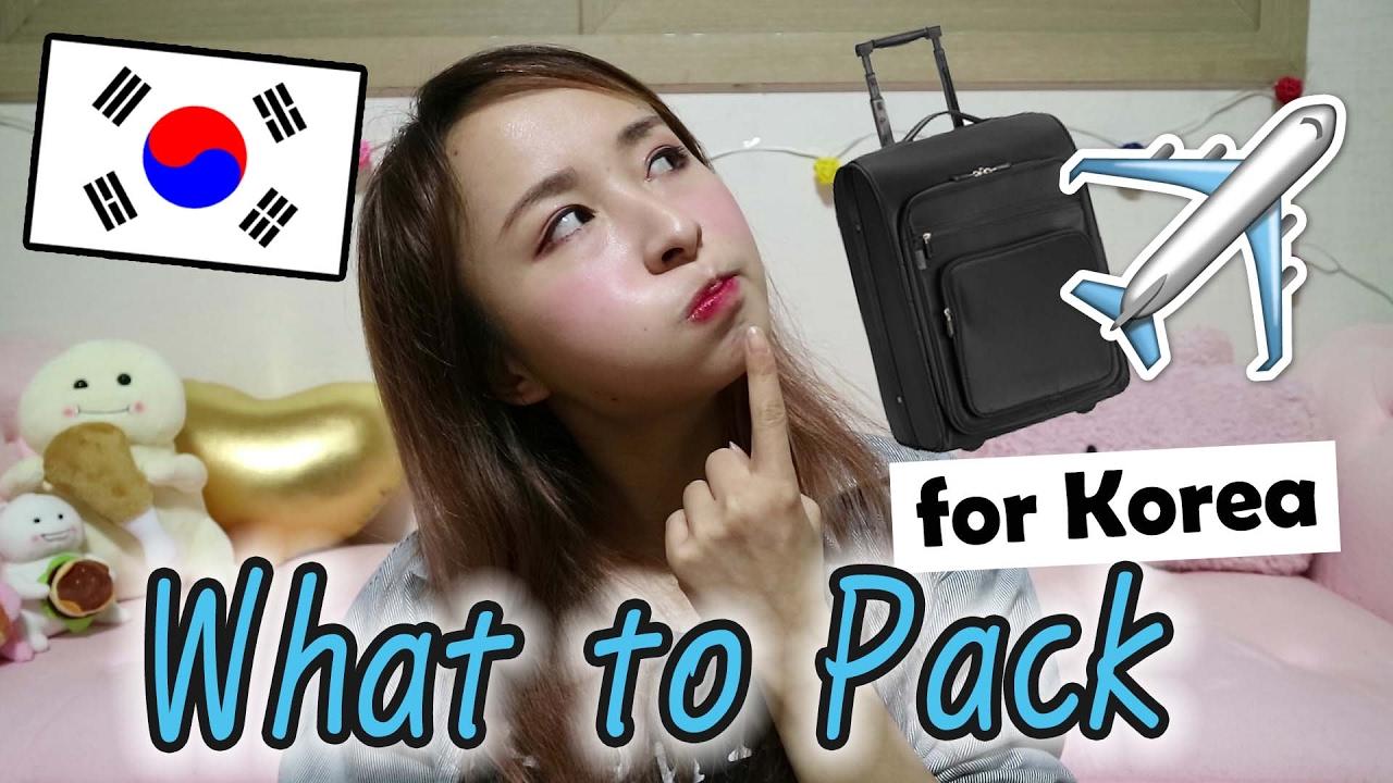 du lịch Hàn Quốc mang gì